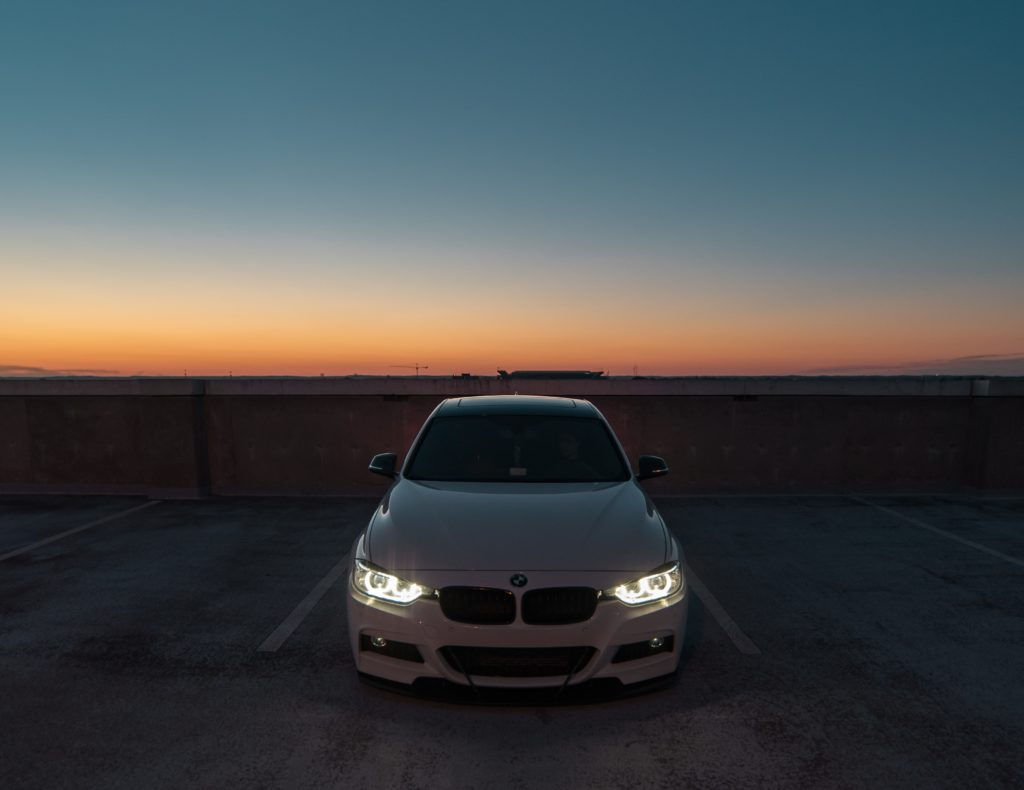 white BMW 3 series